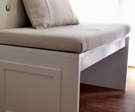 DIY bench for a banquette