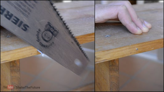 Use Other End of the Saw to Cut the Nail