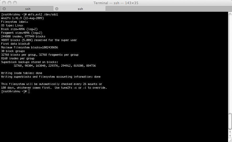 Picture of Create the File System