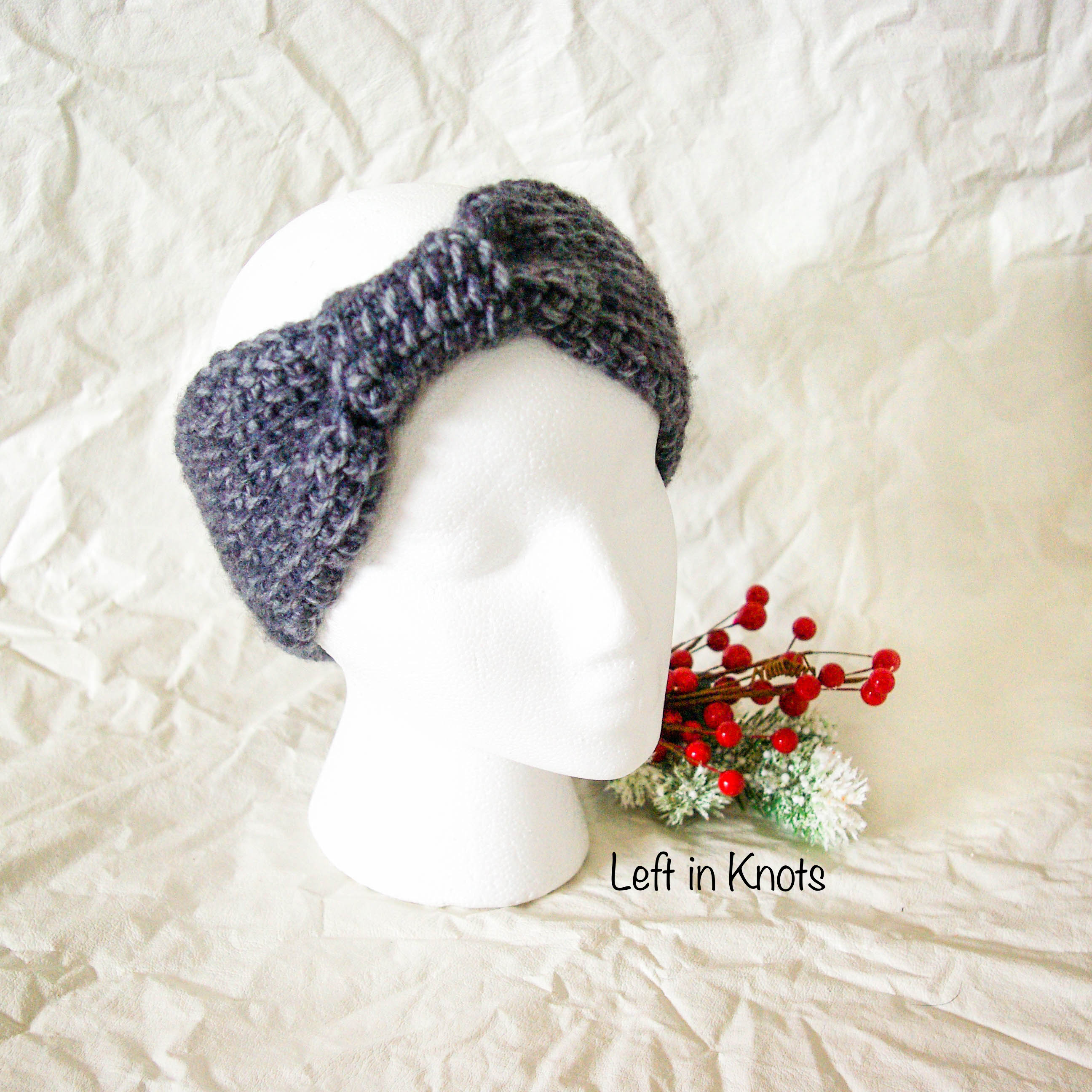 Picture of Tunisian Crochet Knotted Ear Warmer