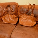 A soft supple leather purse from an old couch!
