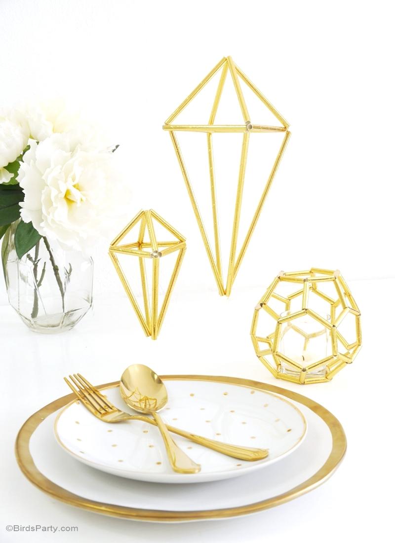 Picture of DIY Himmeli Geometric Wedding Decor