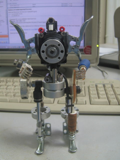 Picture of Robot Figures From Junk