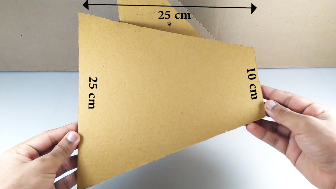 Picture of Now Make This Cardboard Shape for the Back Support ( Refer Video )