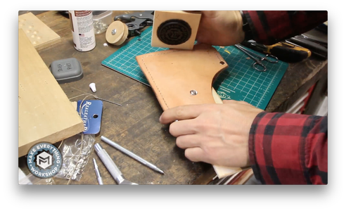 Embossing a Logo Into the Sheath.