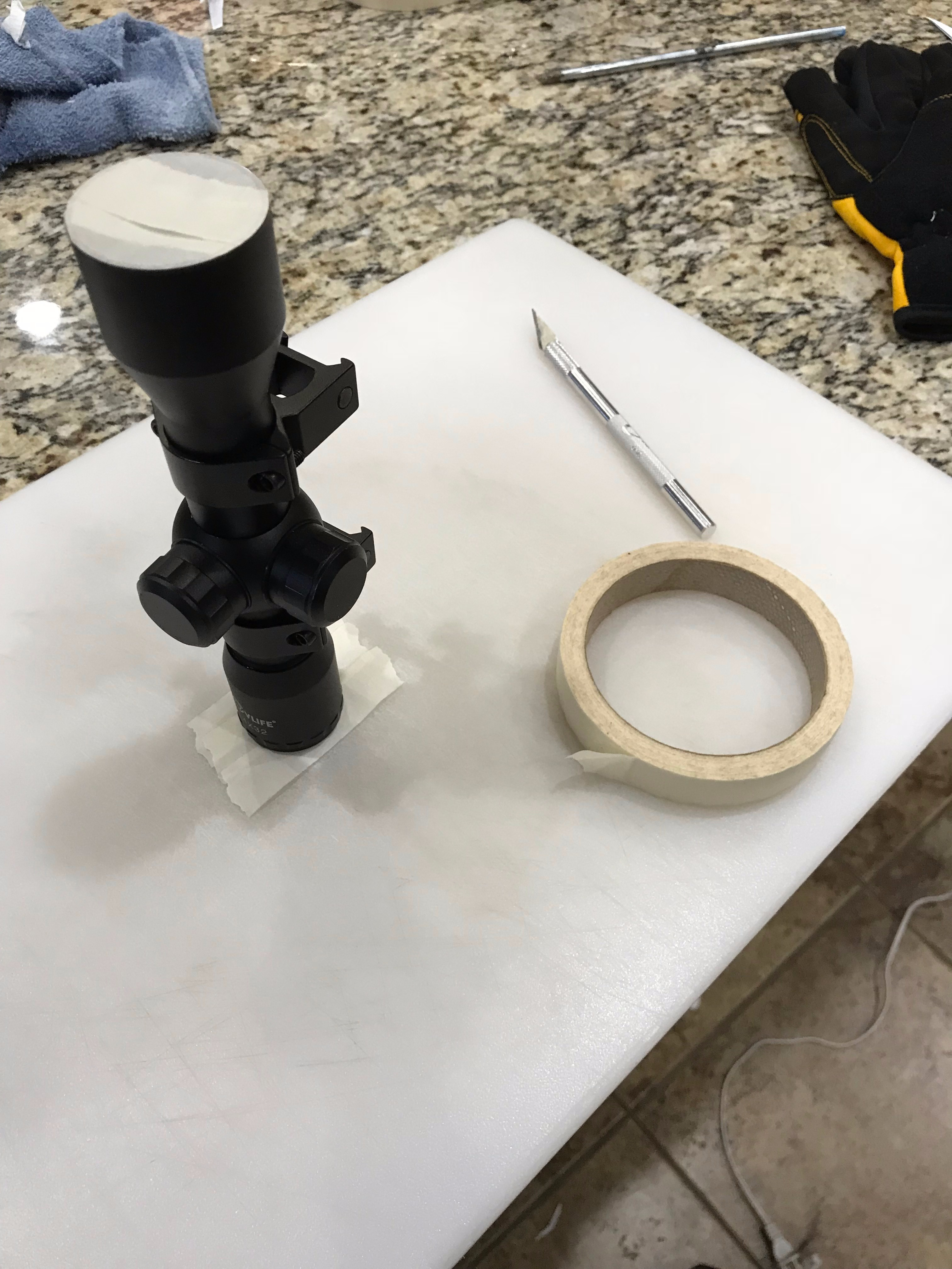 Picture of Preparing the Scope for Painting