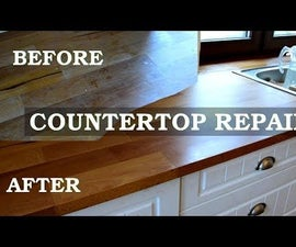 Renovation of Kitchen Countertop - Easy 4 Steps With Cool Effect