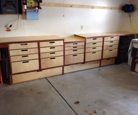 Easy Garage Storage and Bench