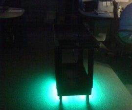 Glowing utility cart