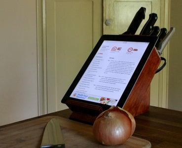 Rejuvenated Knife Block Tablet Stand
