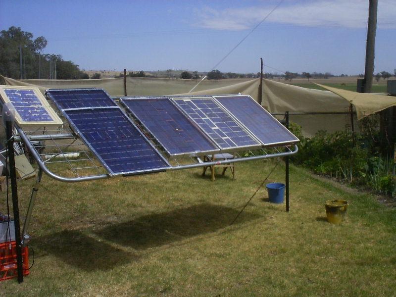 Picture of D.I.Y. Solar Setup.