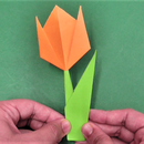 How to make a simple and easy paper tulip flower.