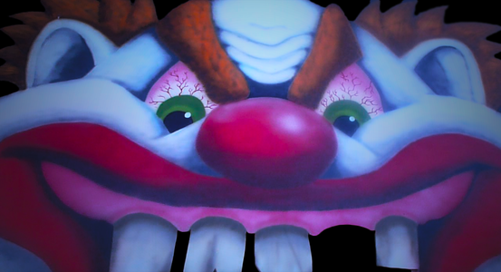 Scary Clown Face Haunted House Entrance