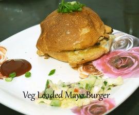 Veg Loaded Mayo Burger