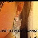 """""""Love To Read""""Earrings"""