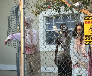 PVC Zombies and Fence Halloween Decoration