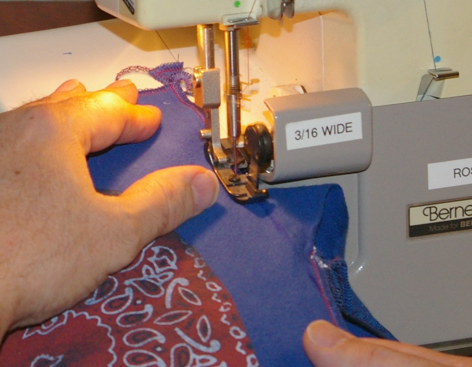 Picture of Fusing and Serging the Design