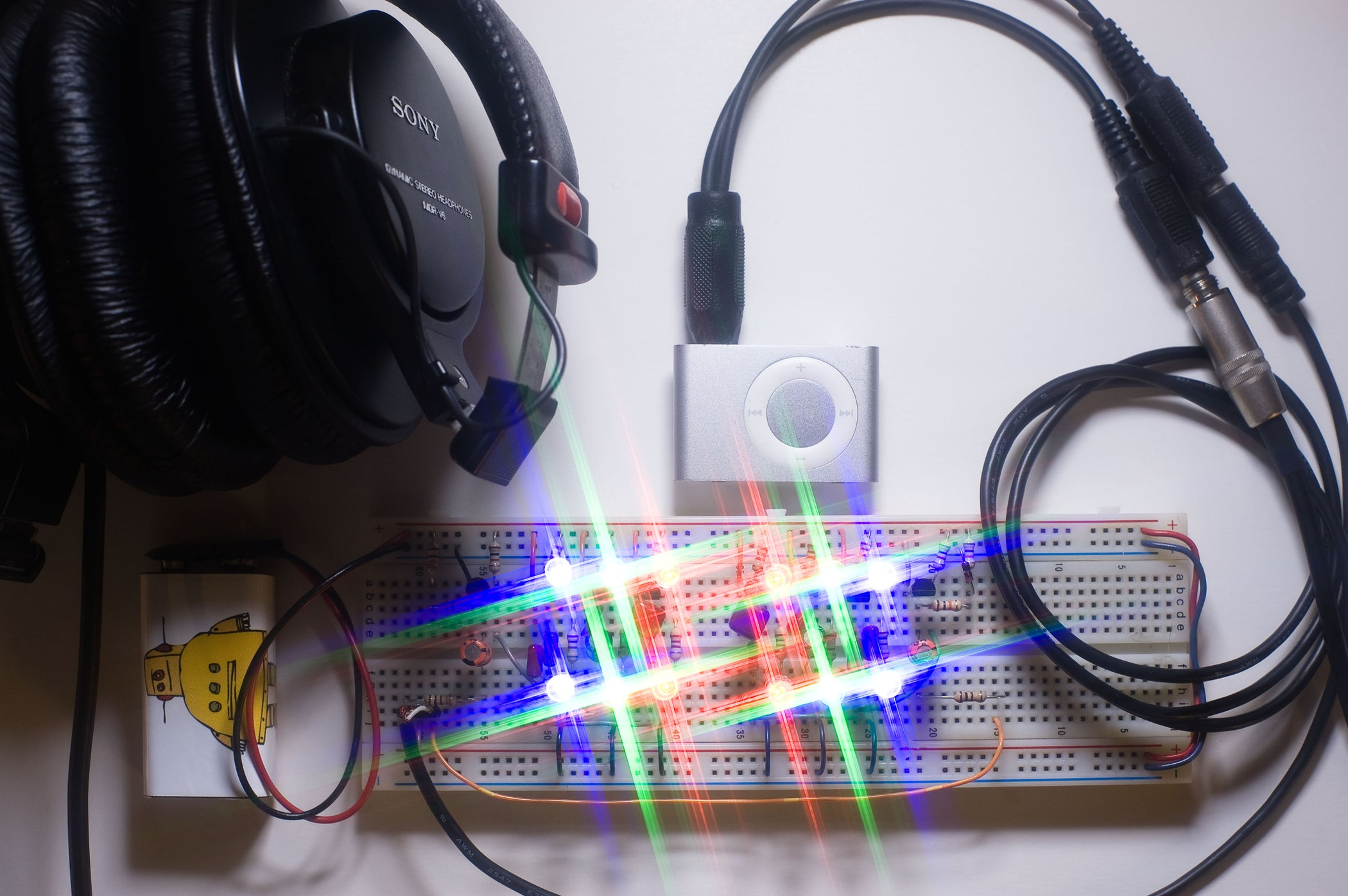 Led Color Organ Triple Deluxe 4 Steps With Pictures Other Circuit Skills Diy Videos By Collin
