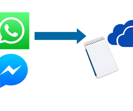 WHATSAPP to Smart NOTEPAD or Unlimited CLOUD STORAGE