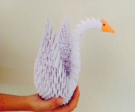 How to Make a 3D Paper Origami Swan
