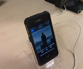 Acrylic IPhone4 Charging Dock - Bumper/Case Compatible