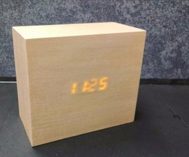 Wood Block LED Clock