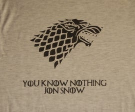 How to make a Game of Thrones T-shirt