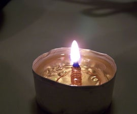 Make an oil-burning candle