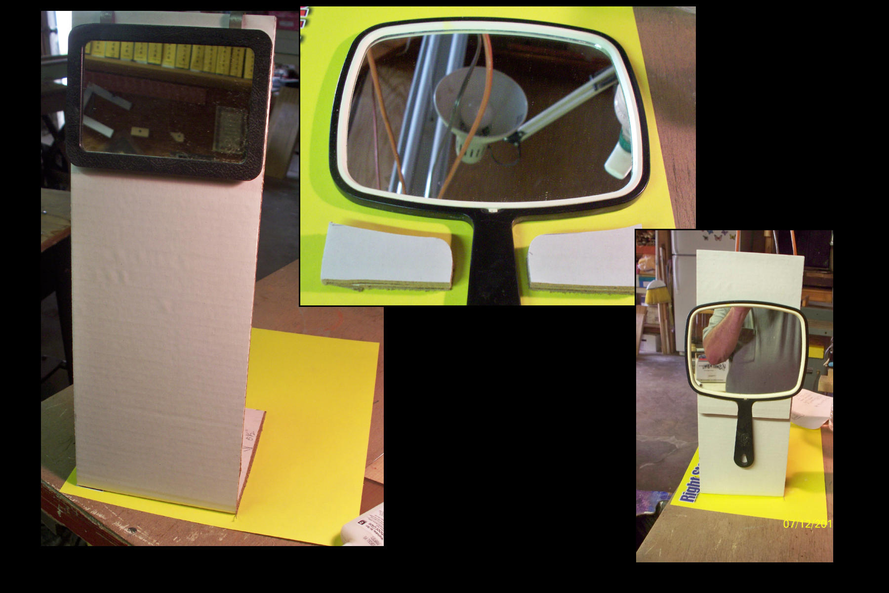 Picture of Attach Mirror of Choice to Stand