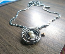 Time Turner Necklace using key rings