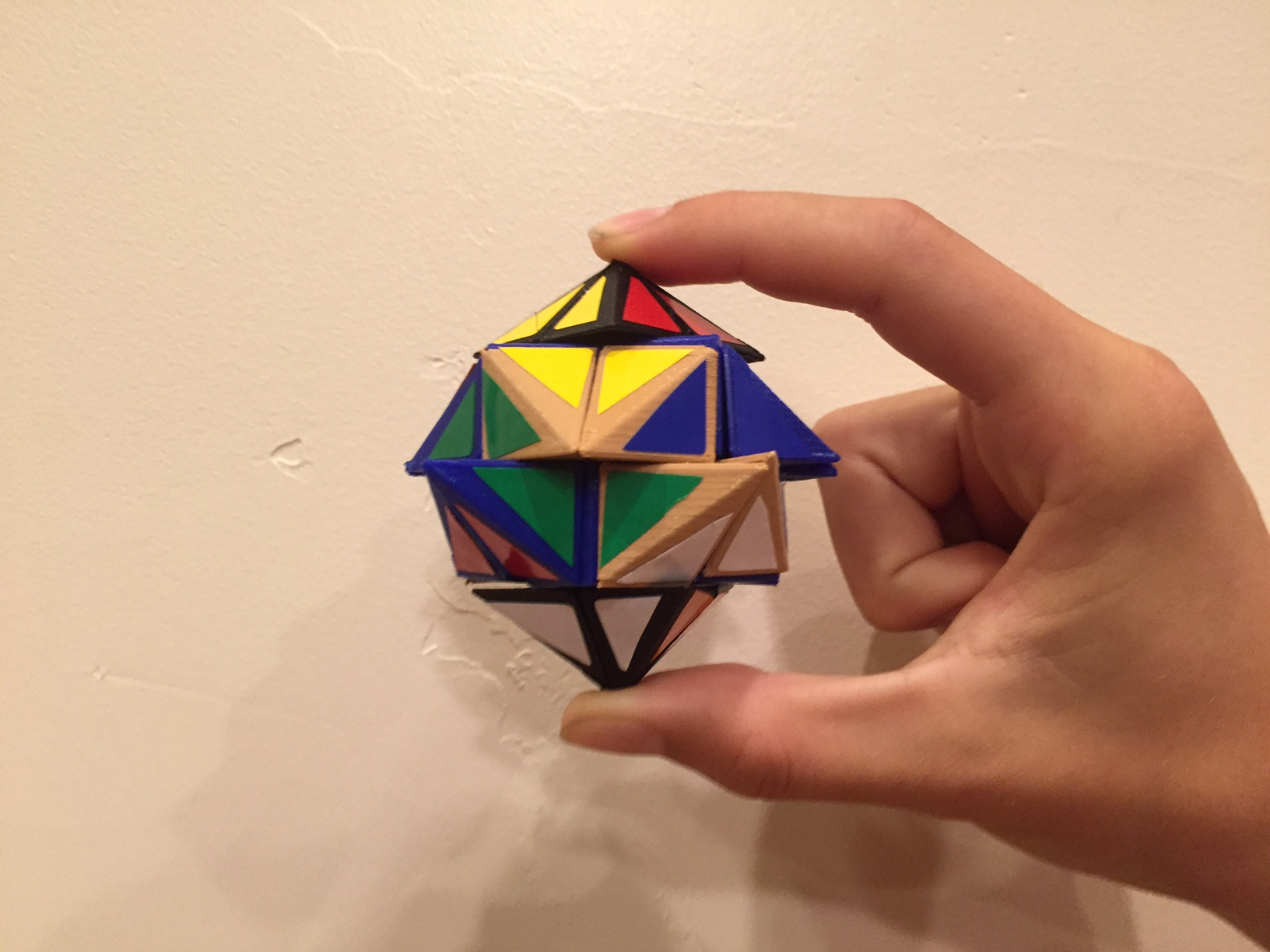 "Picture of 3D Printed ""Rhombiminx"" Twisty Puzzle"