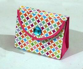 How to Make a Beautiful DIY Handmade Paper Purse?