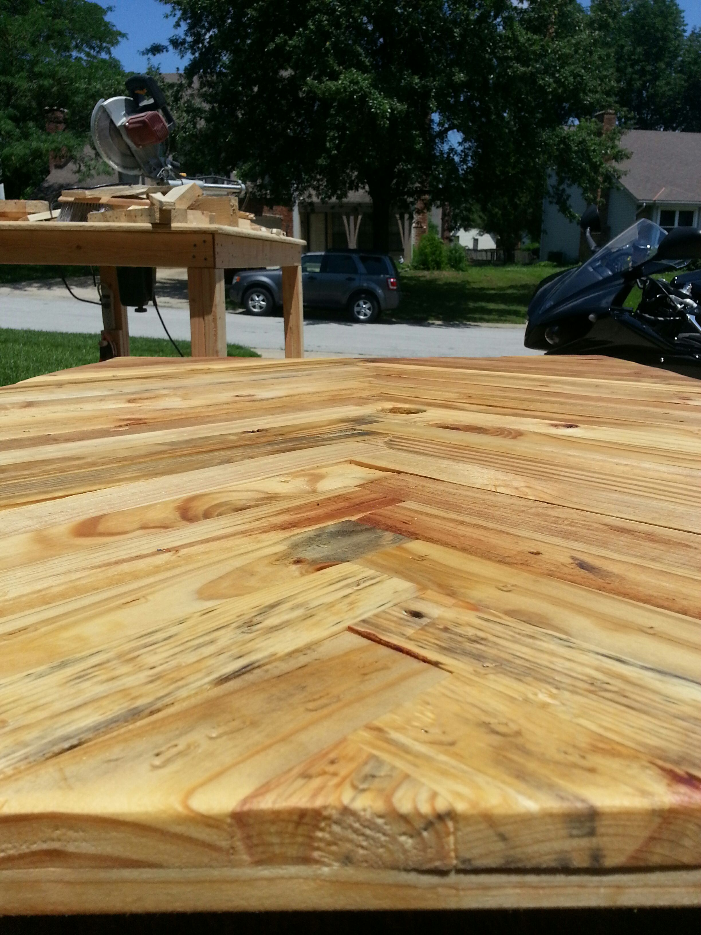 Picture of Adding the Stain and Sealer