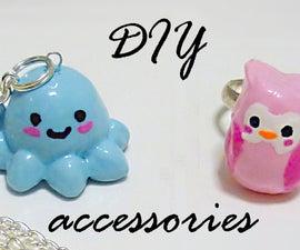 DIY cornstarch clay accesories from scratch!!