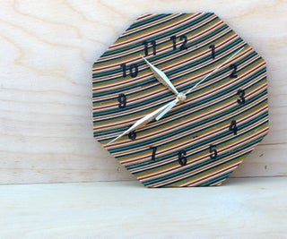 Wooden Clock Out of Recycled Skateboards