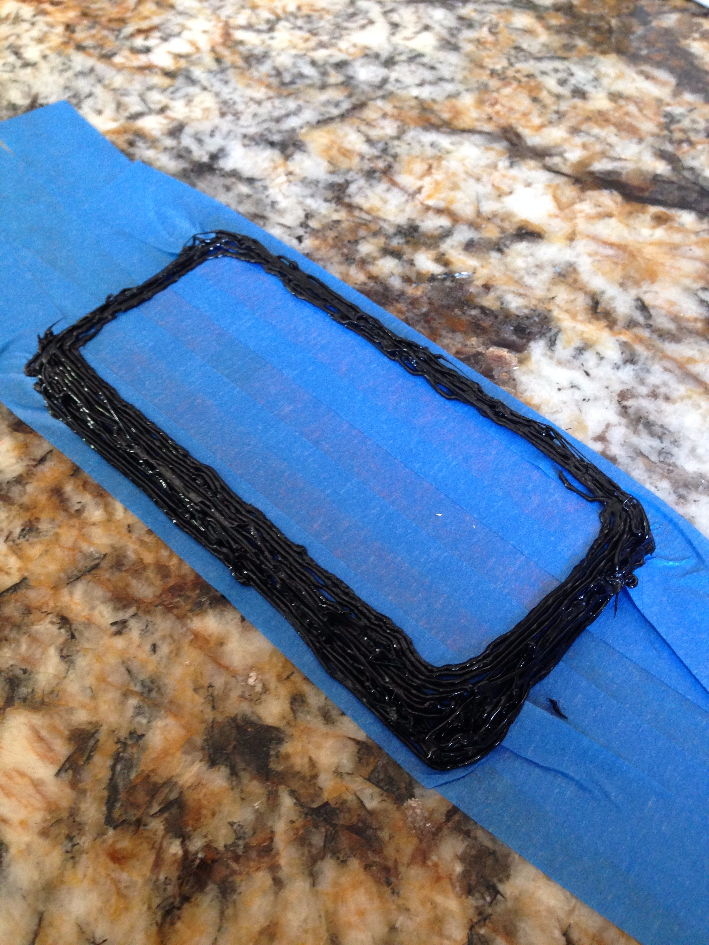 Picture of Outline the Sides of the Phone and Work Up