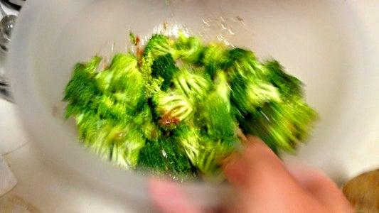 Toss Broccoli in Italian Dressing