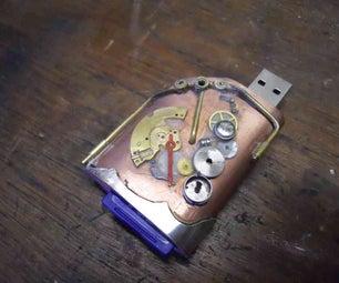 USB Steampunk SD Memory Card Reader