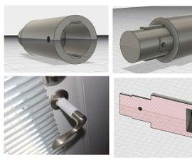 3d Printed Door Handle Extension in Fusion 360