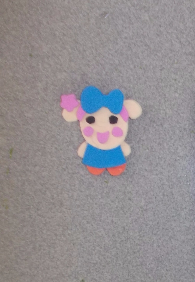 Picture of Cut the Bow, Eyes, Mouth, Cheeks, Arms... and Glue Them Like the Picture.