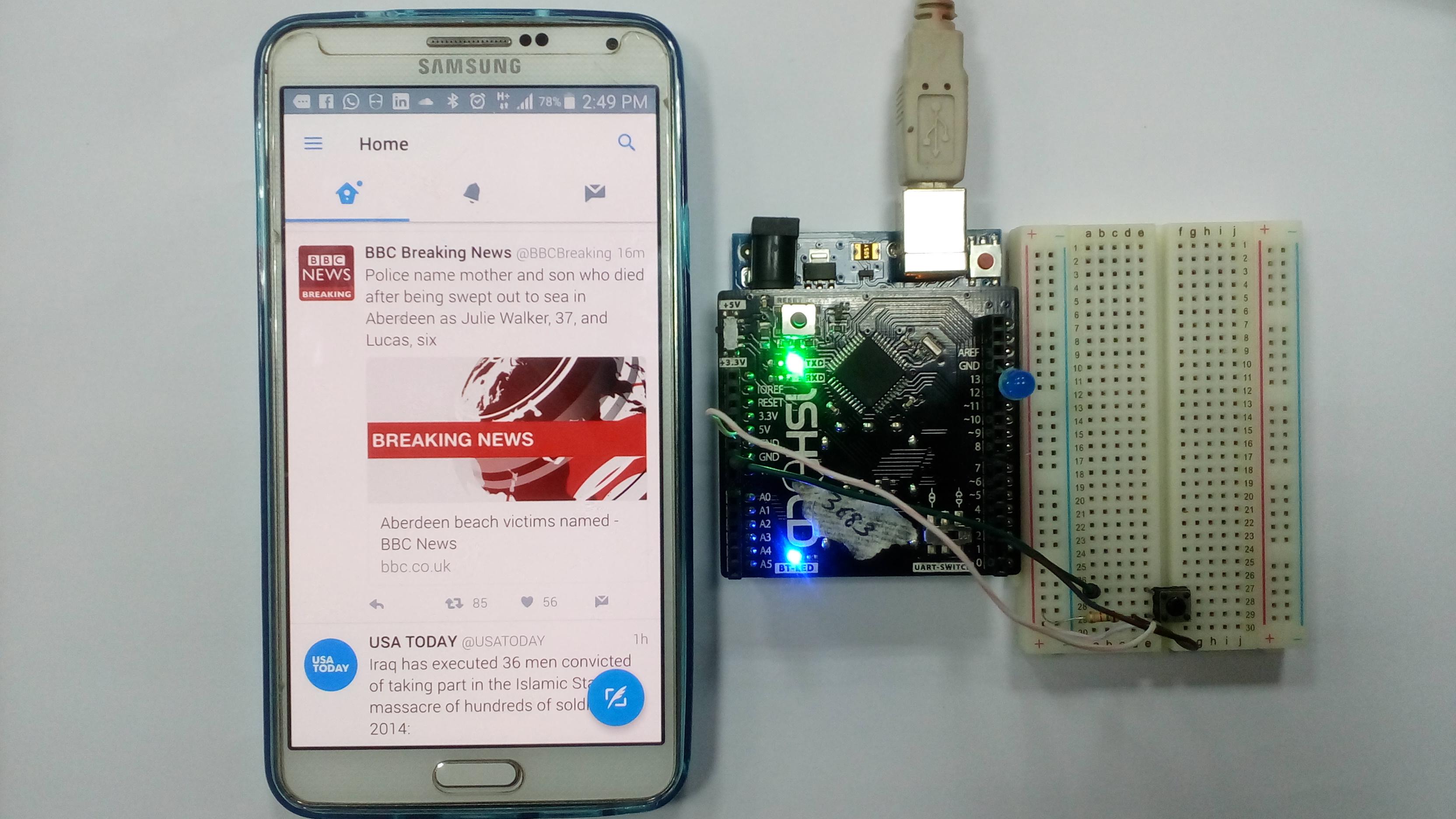 Picture of Twitter Radio Using 1Sheeld and Arduino Uno