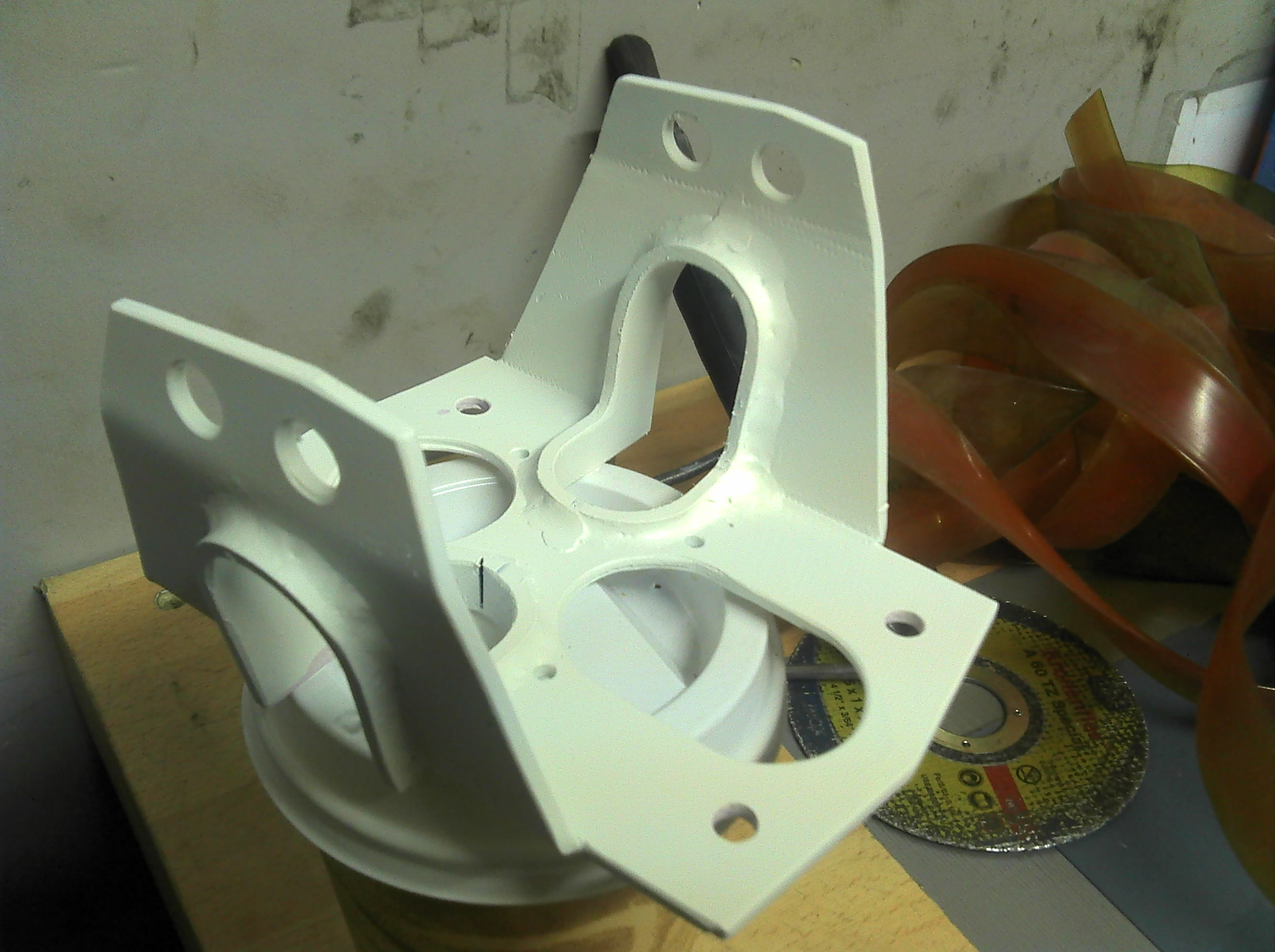 Picture of Reinforcing the Rear Ski-mount, Painting, Deciding on Exact Height for Front Mount.