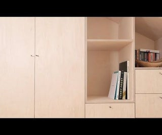 Build in Birch Plywood Cabinet/ Wardrobe
