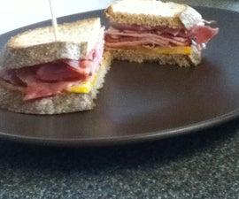 Delicious Fried Ham Sandwich
