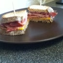 Delicious Fried Ham Sandwich
