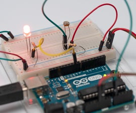 Light Sensor (Photoresistor) With Arduino in Tinkercad