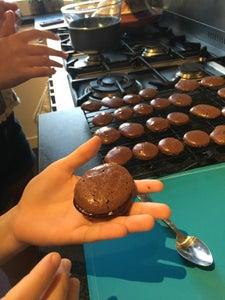 Chocolate Macaroons With Nutella Ganache