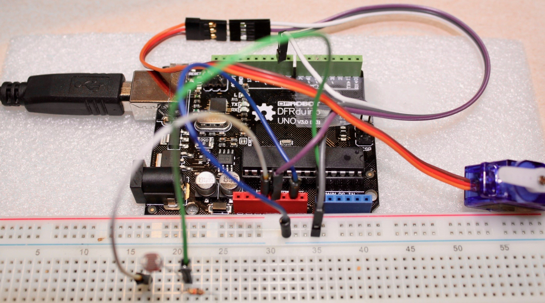 Picture of Light-Dependent Servo: Automate Any Bedside Lamp!