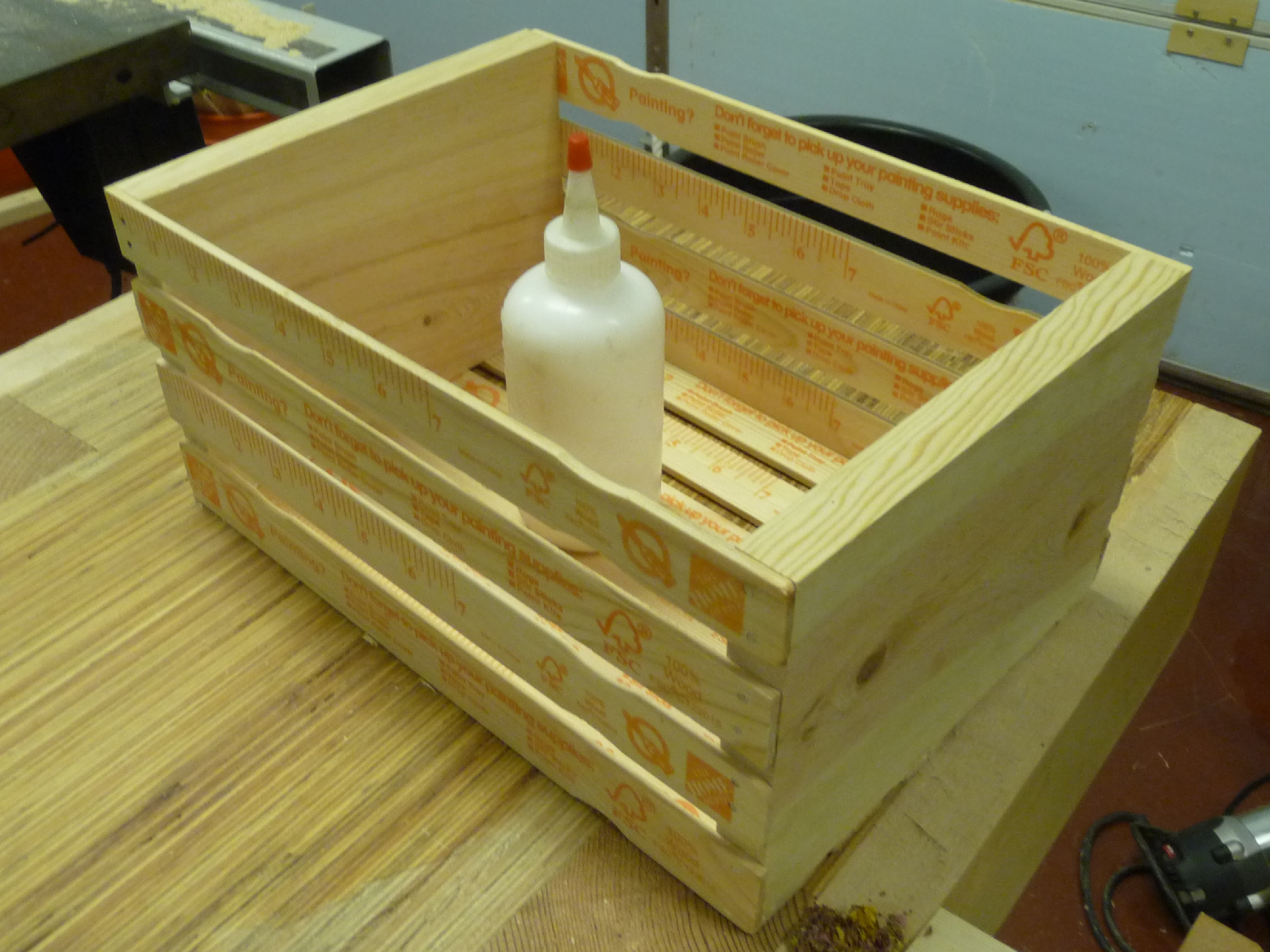 Picture of Paint Stick Crate