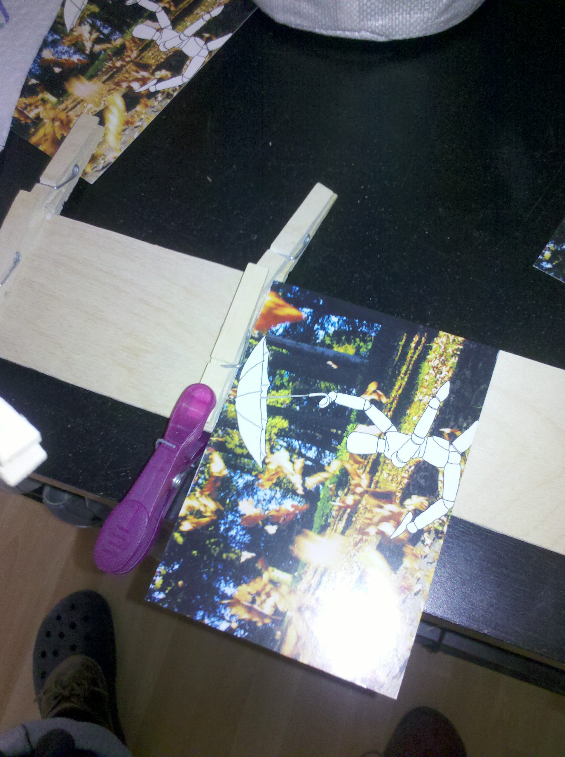 Picture of Cut the Board and Glue the Clothespins